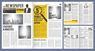 Newspaper Article Design Newspaper Headline Press Layout Template Of Newspaper Cover