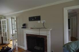PowerBridge installation above fireplace of on-wall mounted LCD Plasma LED  HDTV
