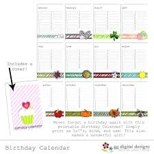 Birthday Calendar Template Best Photos Of Family Printable Free ...