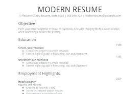 Modern Simple Resume Template Modern Resume Template Simple Resume Sample For Job Bino 9terrains
