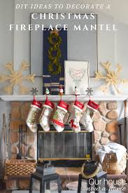 Tree Mantel Christmas Fireplaces Decoration Ideas  For The Home Christmas Fireplace Mantel