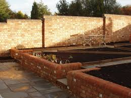 Walled Kitchen Garden Construction Just Completea Productive Walled Kitchen Garden