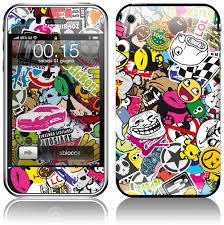 iphone 3g. sticker cover for apple iphone 3g-3gs bomb iphone 3g