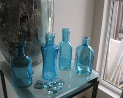Decorative Colored Glass Bottles Colored glass vases Etsy 81