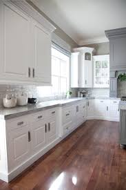 Kitchen With White Cabinets Our Kitchen Before After Cabinets My Website And Hardwood Floors