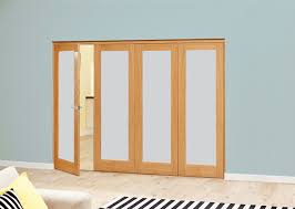 nuvu unfinished oak frosted glass