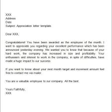 Sample Employee Thank You And Recognition Letters