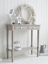 small cream console table. Oxford Grey Small Console Table - Storage Living, Hall And Bedroom Furniture Cream T