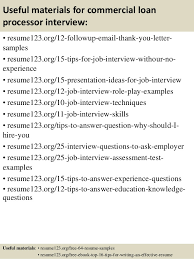 14 useful materials for commercial loan processor sample resume for loan processor