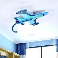 ceiling fans neon light fan blue decorative airplane painting