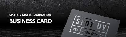 Business Cards Spot Uv Silk Laminated
