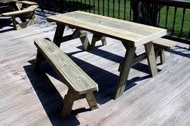 build picnic table bench minimalist decorations diy patio plans round furniture with cooler expert outdoor