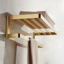 solid gold wall mount bathroom towel