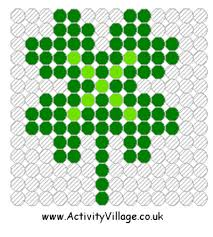 Small Perler Bead Patterns Magnificent Shamrock Fuse Bead Pattern Small