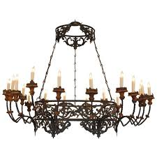 mind blowing wood and wrought iron chandeliers italian liguria wrought iron metal and wood 18