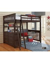 Greyleigh Bedlington Loft Bed Bed Frame Color: Espresso, Size: Full from Wayfair | Martha Stewart
