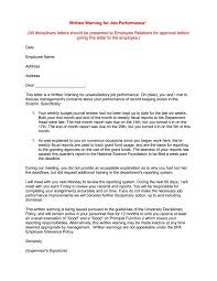 5 Common Reasons For Writing An Employee Warning Letter Free