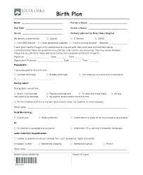 Birth Plan Check List Free Birth Plan Template Fillable Printable Templates