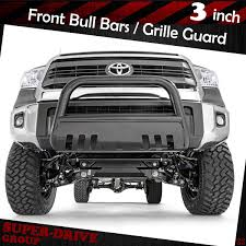 Black Front Bumper Bull Bar Grille Guards Skid Plate For 2007-2018 ...