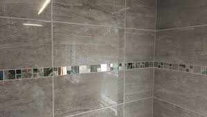 15 30m2 parallel travertine effect gloss grey ceramic wall tile deal 50 x 25
