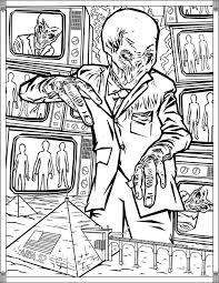 Doctor who pages silence | TV shows - Coloring pages for adults ...