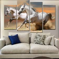 Paintings For Walls Of Living Room Popular Horse Paintings For Living Room Wall Buy Cheap Horse