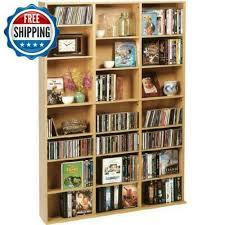 double media storage dvd cd wall