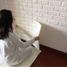 Details about <b>3D Brick Wall Sticker</b> Self-Adhesive Foam Wallpaper ...