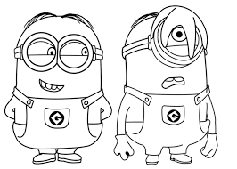 The minions are small, yellow henchmen shaped like pill capsules who wear blue overalls emblazoned with gru's logo. Kid Minion Coloring Pages Coloring Home