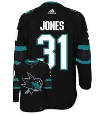 Authentic Jersey Hockey Jones Third Alternate Jose Nhl Adidas Sharks San Martin