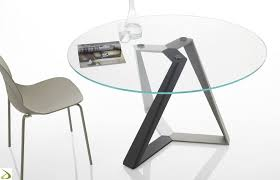 design round table with multicolor base