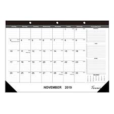 School Calendar Template 2020 17 Towwi 2019 2020 Year Monthly Desk Pad Calendar 16 8 X 11 7 Desktop Wall Calendar For Daily Schedule Planner