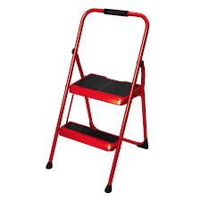 Werner 2-Step 200-lb Red Steel Step Stool