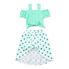 Amazon Com Toddler Baby Girls Summer Outfits Clothes 1 4