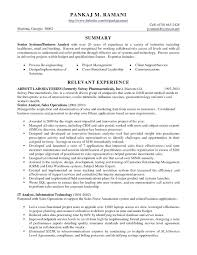Sample Resume For Business Analyst In Banking Domain Inspirationa