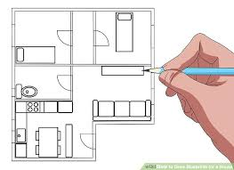 drawing plan for house image titled draw blueprints for a house step 6 how to draw drawing plan for house