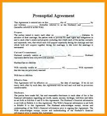 Sample Prenup Prenuptial Agreement Form With Sample Prenup What To Include In A