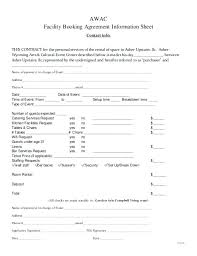 Venue Contract Template Event Rental Agreement Template Facilities Church Facility