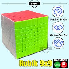 Rubik 9x9 Không Viền Loại Tốt Xoay Trơn - Đồ Chơi Phát Triển Trí Tuệ Trẻ Em  BFUN (Shop có bán rubik 3x3..) - Đồ chơi phát triển kỹ năng cơ bản