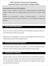 Communication Plan Template Word 10 Communication Strategy Templates Free Word Pdf Documents