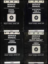 plymouth acclaim service manuals shop owner maintenance and 1991 fwd repair shop manual set chrysler lebaron new yorker imperial dodge spirit dynasty daytona