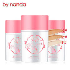 2016 makeup brand by nanda bb cream professional moisture concealer cream light weight base maquillage foundation 50g 3 colors in bb cc creams from beauty