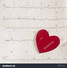Ekg Graph Paper Electrocardiogram Medical Concept Stock Photo Edit