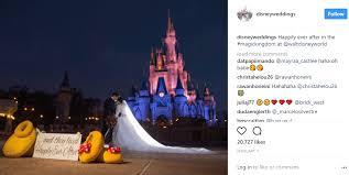 disney weddings via instagram