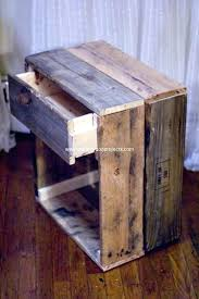 pallet wood end table pallet end table plans pallet wood projects pallet wood table diy