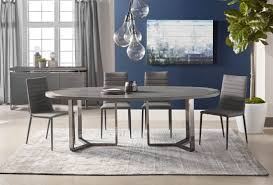 Malone Black Oval Dining Table From Star International Coleman - Black oval dining room table