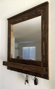 Coat Rack With Mirror And Shelf Entry Mirror with Key Hooks and Shelf Home Decorating Ideas 37