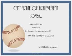 Free Customizable Award Certificates Unique Free Printable Softball