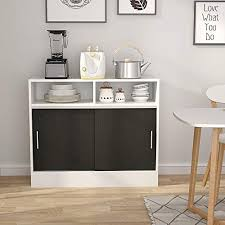 Great tips on repurposed furniture. Tribesigns Microwave Stand With Storage Coffee Bar Station Kitchen Storage Cabinet Sideboard Buffet Table With Sliding Doors For Kitchen Dining Room Buy Online In Guam At Guam Desertcart Com Productid 154991527