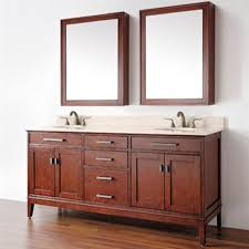 traditional double bathroom vanities with wooden cabinet combined with quartz top also oval shaped undermount sink with metal fauce and wall mirror ornament